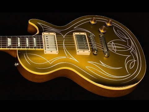 Gibson Custom Shop Billy Gibbons 1957 Pinstripe Les Paul Goldtop Aged  •  SN: GIBBONSGT050