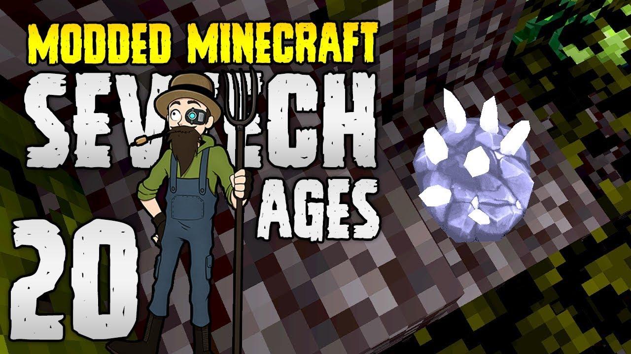 Minecraft SevTech: Ages | 20 | Rock Crystal Sample, RARE!? | Modded  Minecraft 1 12 2