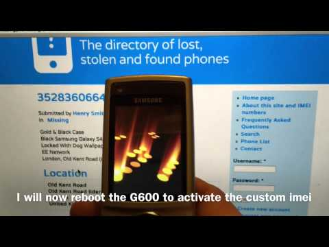 Proof of the IMEI Changer working on a Stealth Phone Samsung G600 Anti interception