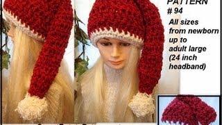 Crochet Pattern,  santa hat, how to crochet, diy