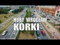 #Wrocław, korki na Hubach w godzinach szczytu, #Huby