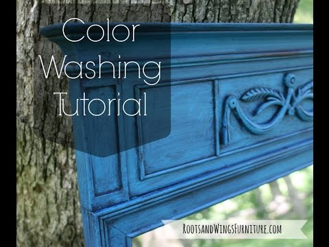Color Washing Tutorial For Furniture Painting Youtube
