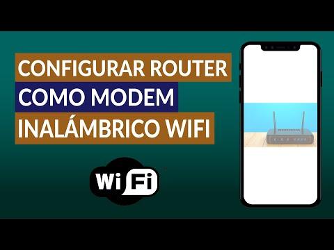 Cómo Configurar un Router como un Modem Inalámbrico WiFi Fácilmente
