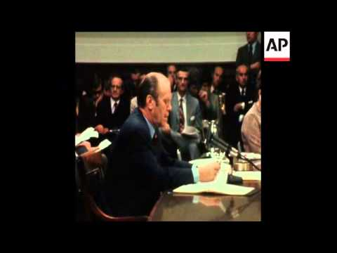 SYND 18 10 74 PRESIDENT FORD TESTIFIES BEFORE CONGRESS