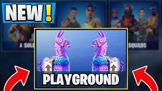 *NEW* Fortnite PLAYGROUND Features! | LTM Gameplay Info! ( Practice Mode )