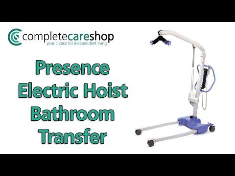 Oxford Professional Presence Electric Hoist used in bathroom transfer