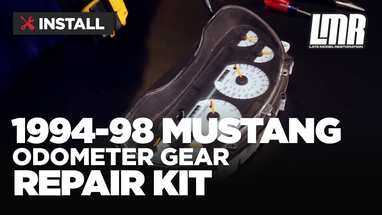 1994 98 mustang odometer gear repair fix kit install [ 1280 x 720 Pixel ]