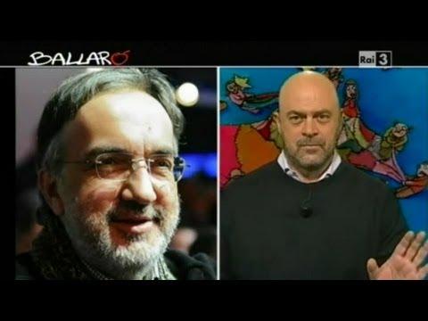 MAURIZIO CROZZA - Ballarò 10/01/2012 - Marchionne... Malinconico e la Panzania
