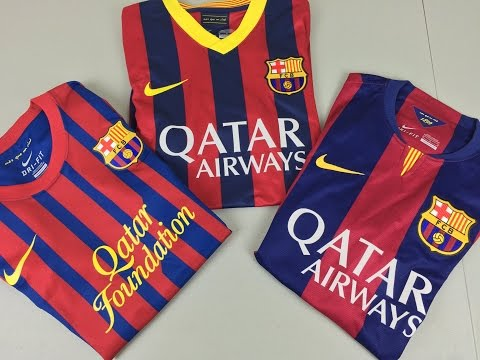 Comparison: Recent FC Barcelona Authentic Jerseys by Nike