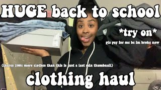 HUGE $400+ back to school clothing haul ! *try on*