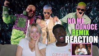 Jhay Cortez, J. Balvin, Bad Bunny - No Me Conoce (Remix) REACTION