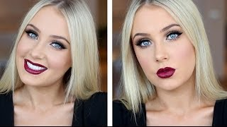 Doll Eyes with Dark Plum Lips Tutorial!