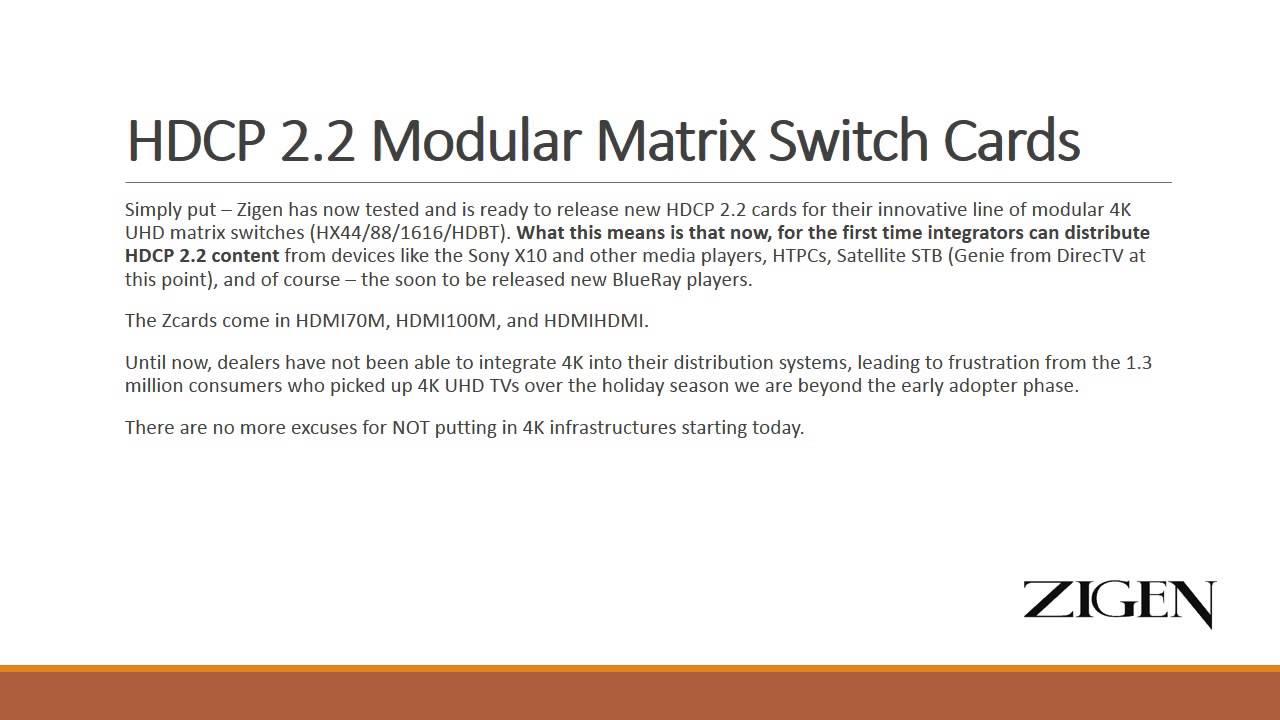 HX-88/HDBT Modular HDbaseT Matrix Switch - Zigen