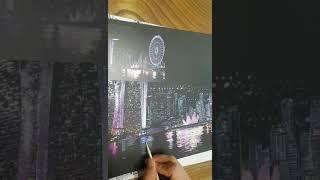 스크래치 나이트뷰 2  싱가폴 마리나베이샌즈 호텔
