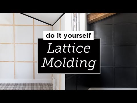 Lattice Wall Molding DIY Tutorial