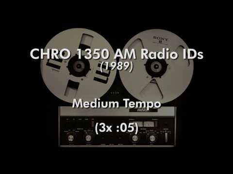 CHRO 1350 AM Radio IDs (1989)