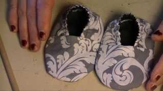 Baby Slippers (Sewing For Beginners)(I couldn't find the original pattern online that I used for this tutorial. I actually had it for many many years before doing this video. Below is a Google Doc and she ..., 2014-02-01T01:25:51.000Z)