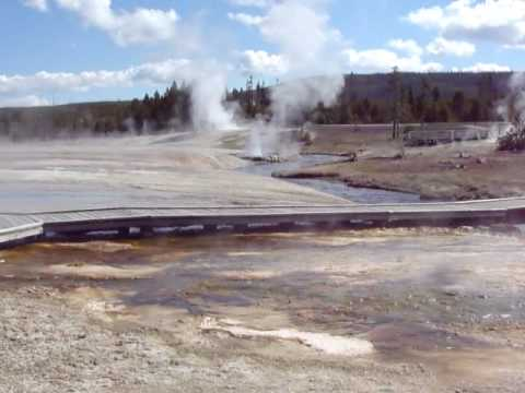 Black Sand Basin in Yellowstone National Park, Summer 2010