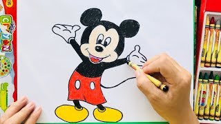 Cách Vẽ Chuột Mickey | How To Draw A Mickey Mouse