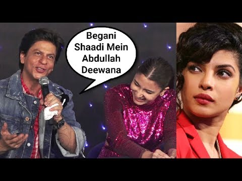Shahrukh Khan Makes Fun Of Priyanka Chopra Nick Jonas Wedding At Zero Trailer Launch