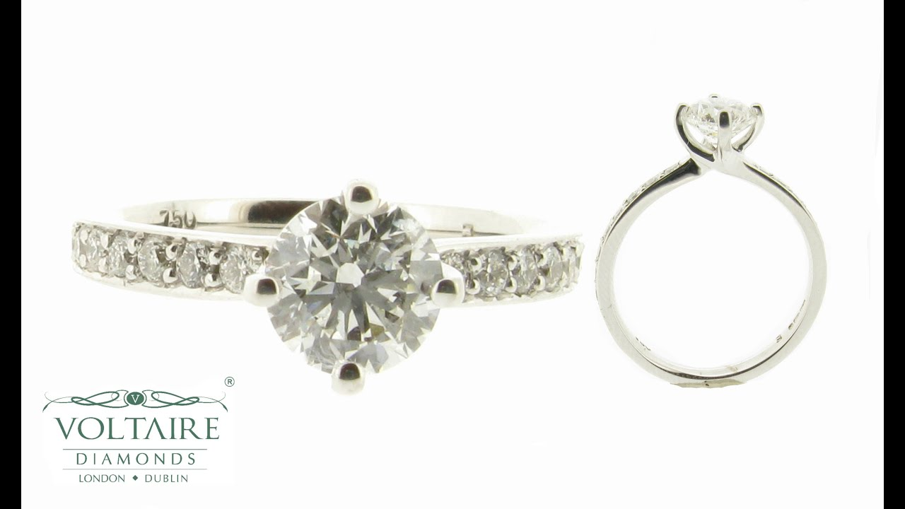in prong round diamond set with cluster setting design east features rings a delicate shapes engagement west combination an of creates pin this two unique pear