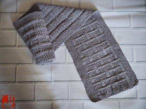 Схема вязания шарфа мужского спицами