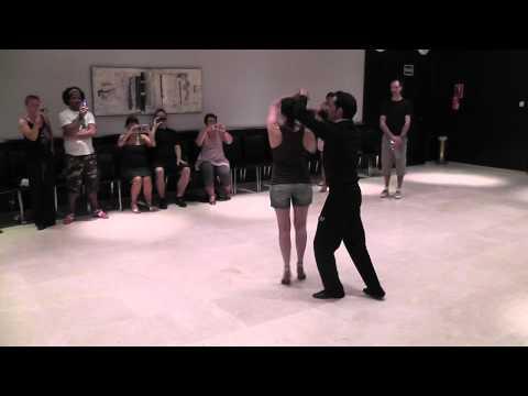 Mauro & Evas Advance Crossbody Salsa Lesson at Malaga 2011 with music