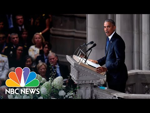 Barack Obama On John McCain: 'We Never Doubted We Were On The Same Team' | NBC News