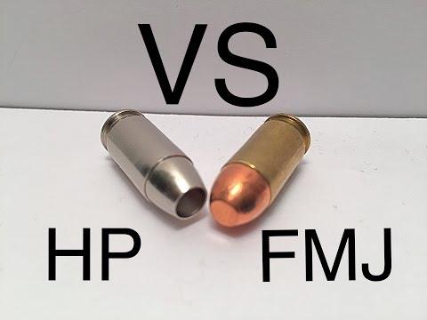 Demonstration Full Metal Jacket VS. Hollow Point (Ammo 101)