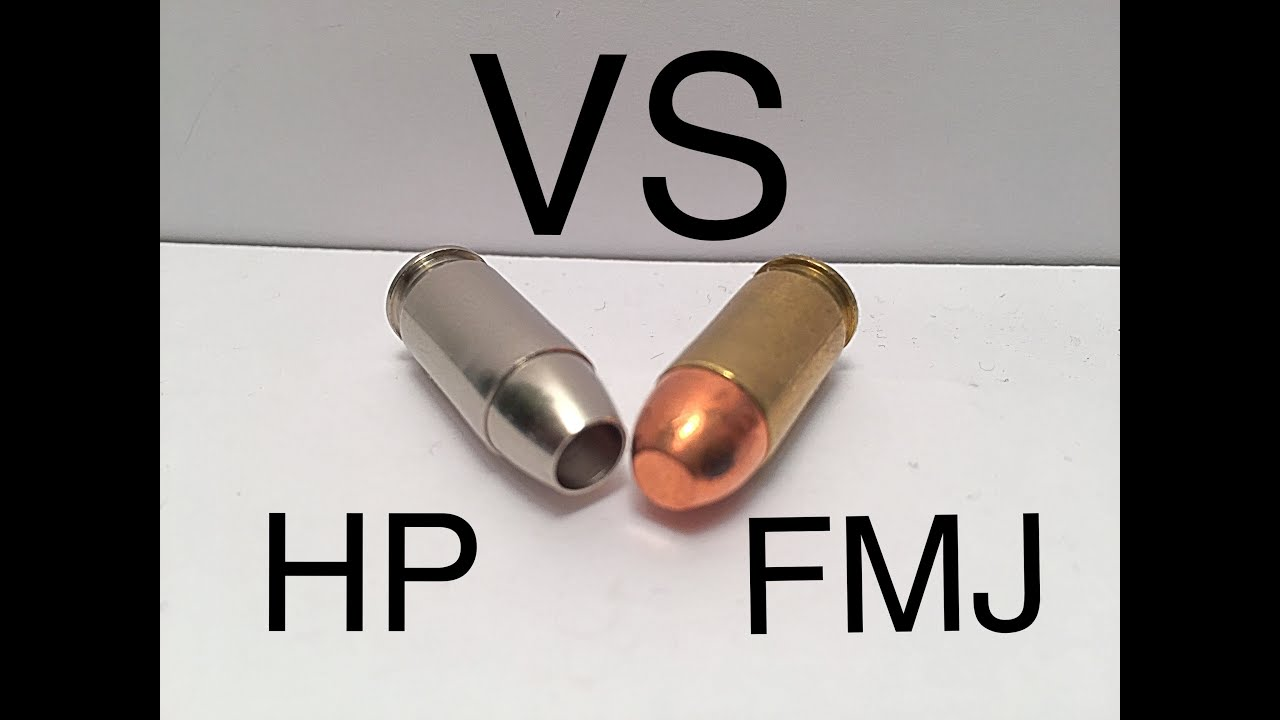 demonstration full metal jacket vs. hollow point (ammo 101) - youtube