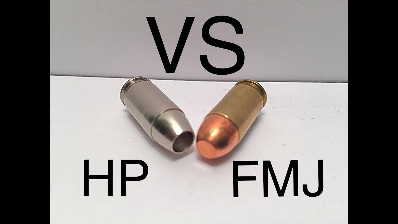 demonstration full metal jacket vs. hollow point (ammo 101) - youtube