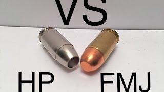 demonstration full metal jacket vs hollow point ammo 101