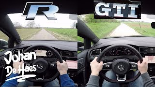 2018 VW Golf R VS VW Golf GTI POV test drive