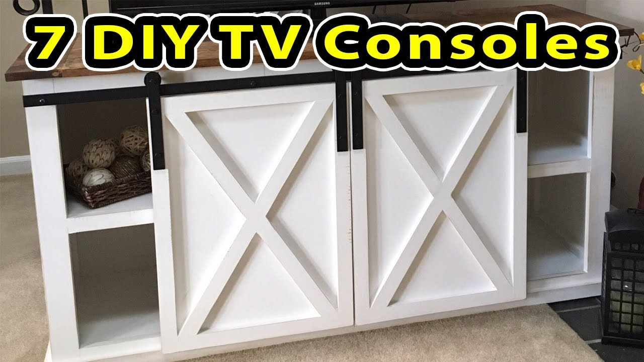 7 Entertainment Centers Do It Yourself Projects