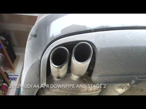 2012 Audi A4 B8 Exhaust sound (pre and post stage 2)