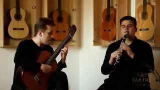 Duo Redžić Radišević - Theme and Variations from Sonata For Clarinet and guitar by F. Rebay