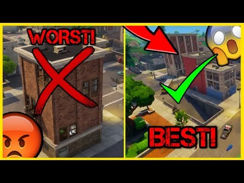 TOP 10 BEST BUILDINGS To LAND At IN TILTED TOWERS!   Fortnite Battle Royale!