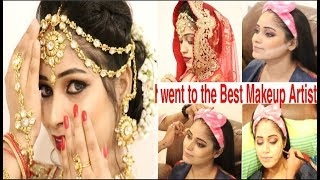 I WENT TO THE BEST REVIEWED *BRIDAL MAKEUP* ARTIST IN INDIA(MUMBAI) ON MY ANNIVERSARY|Be Natural