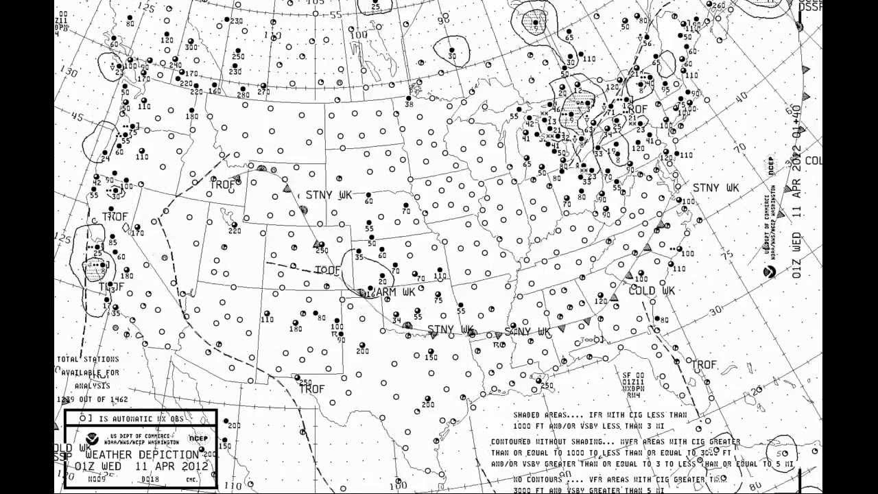 2012 Weather Depiction Chart Time Lapse Youtube