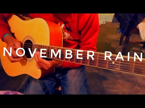 November Rain Guitar Solo Acoustic | Guns N' Roses | Slash Solo