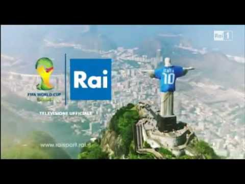 RAI SPORT   Propaganda da Itália   copa do mundo de futebal 2014 Brasil