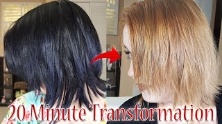 Black to Blonde Hair in 20 minutes! Color Oops Demo + Review