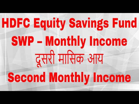 HDFC Equity Savings Fund | SWP – Monthly Income | Second Monthly Income in India