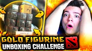 Download GOLD FIGURINE UNBOXING CHALLENGE! MP3 and video free