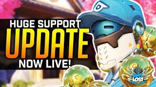 Overwatch - HUGE Support Balance Update LIVE! Supports are BACK!