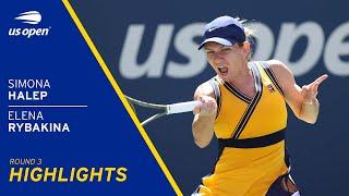 Simona Halep vs Elena Rybakina Highlights | 2021 US Open Round 3