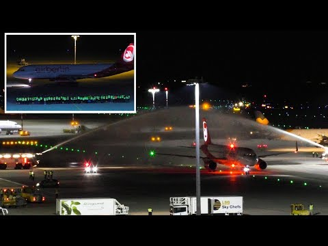 The Final Flights of Air Berlin | Farewell Air Berlin at Stuttgart Airport