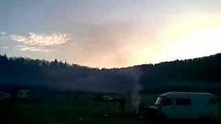 Lever de soleil sur le tekos en ardeche 2008