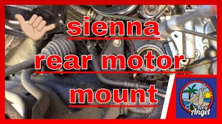 Toyota Sienna Rear Motor Mount Bushing Replacement √