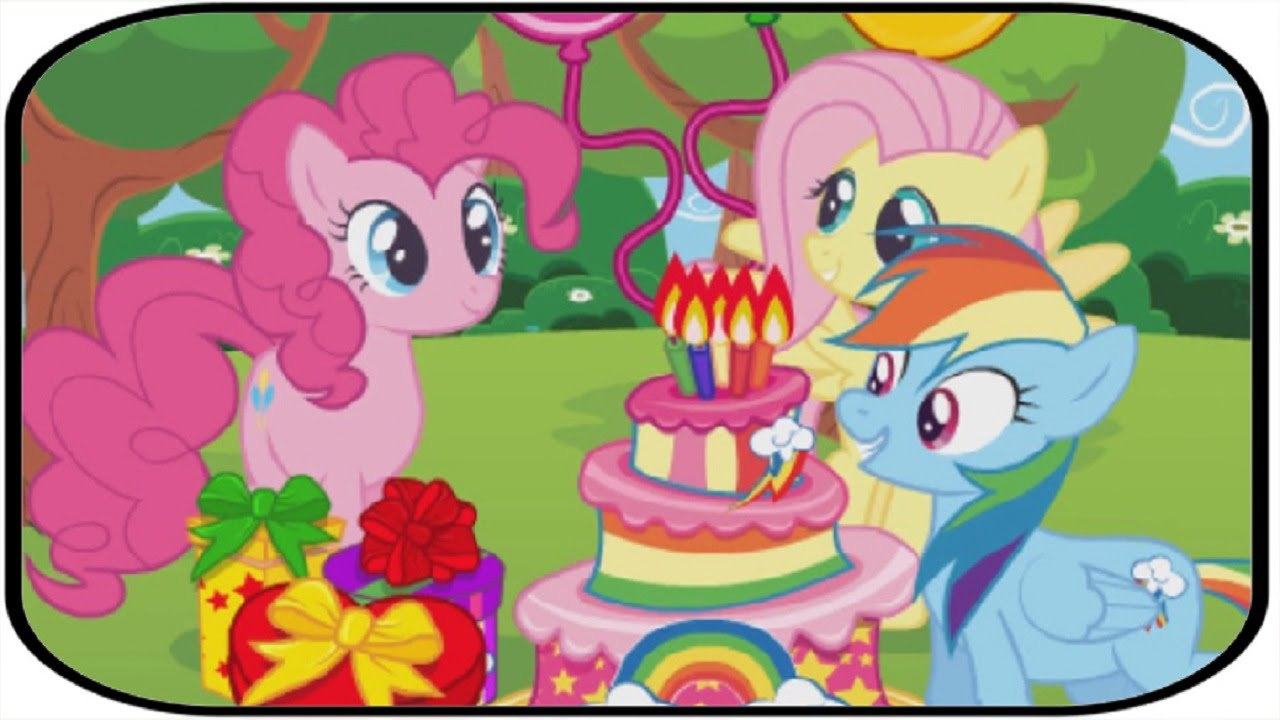 MLP Game For Kids Pinkie Pie Fluttershy Birthday Party Surprise